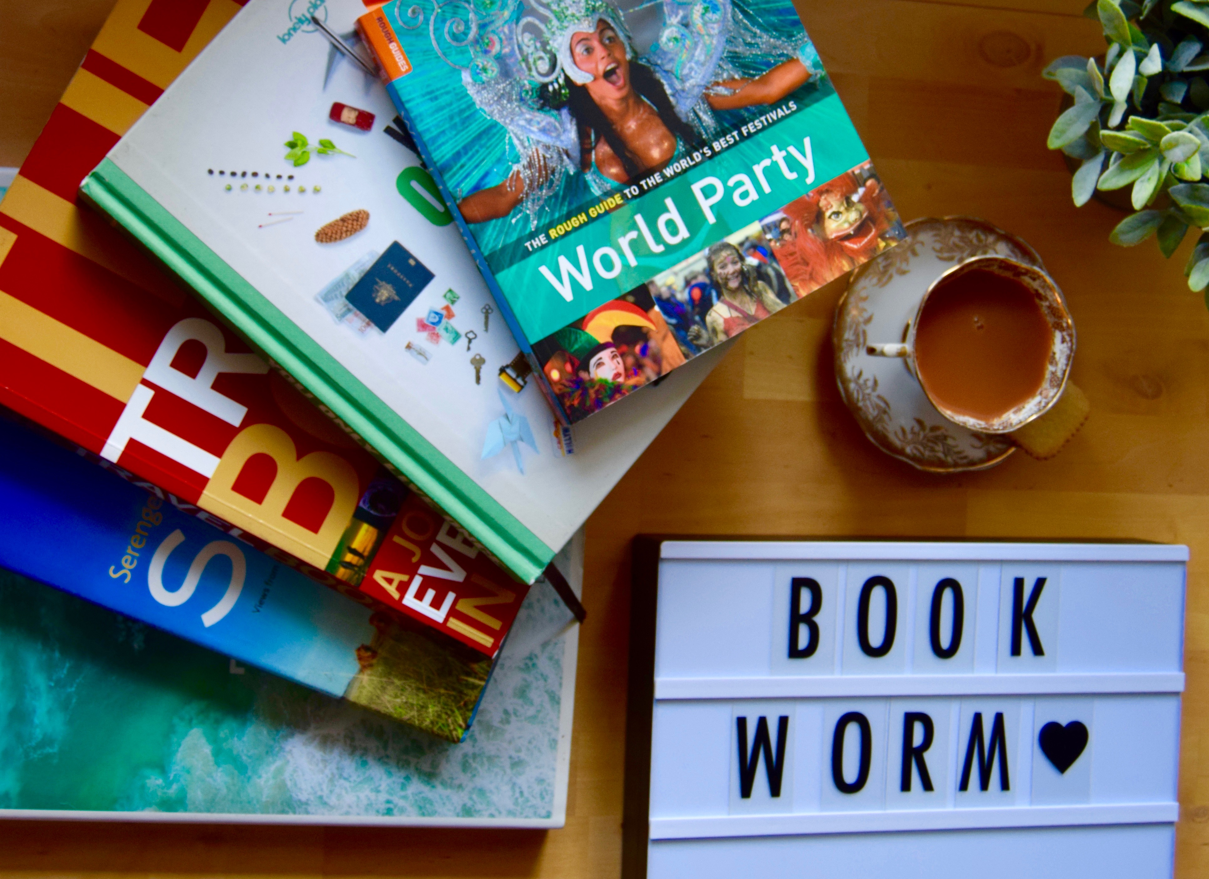View Travel Coffee Table Books Background