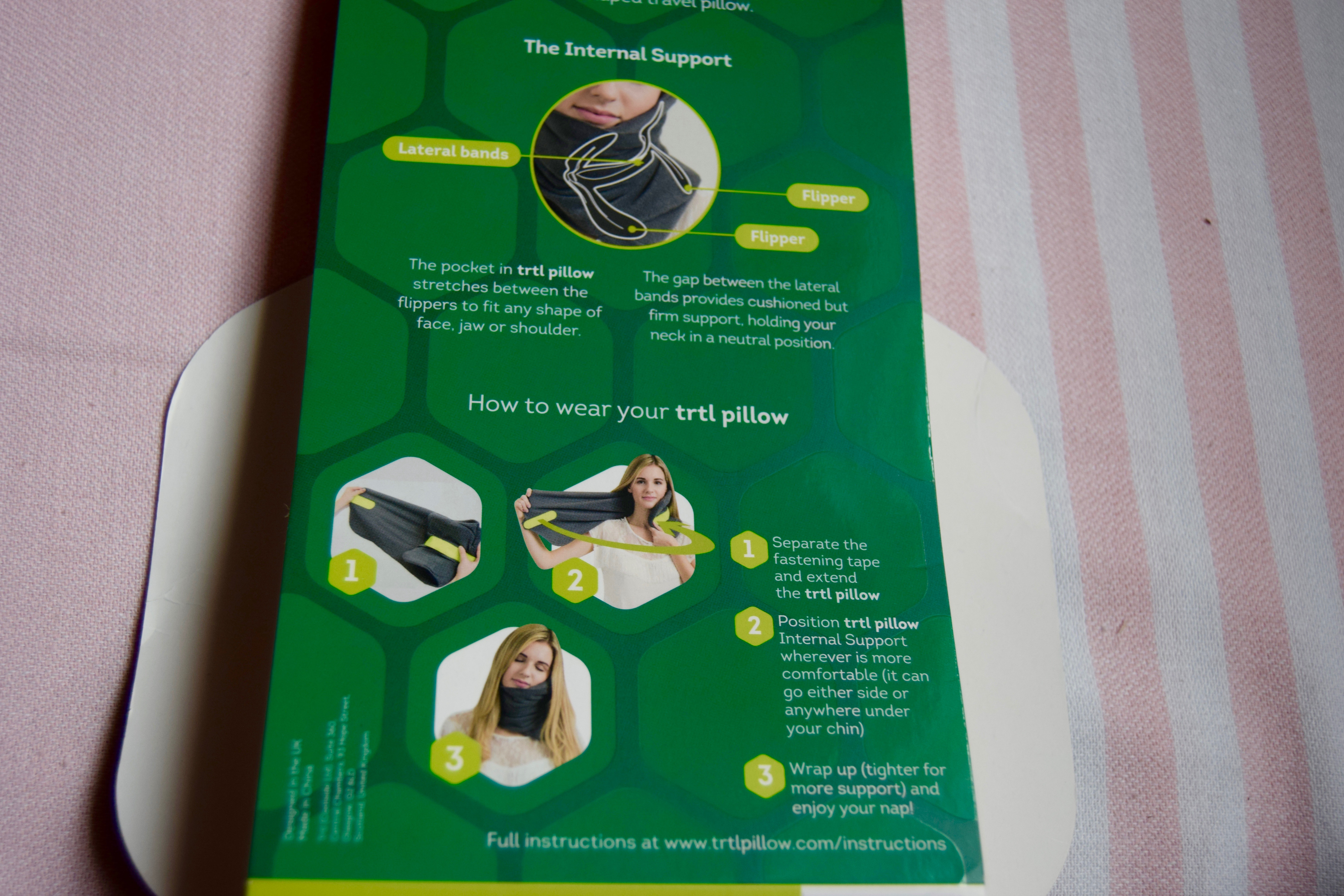Trtl travel pillow review   the food